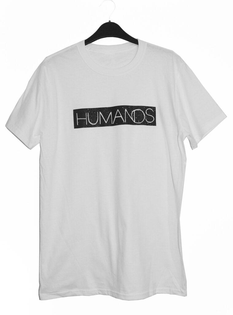 Humanos glitter logo t shirt